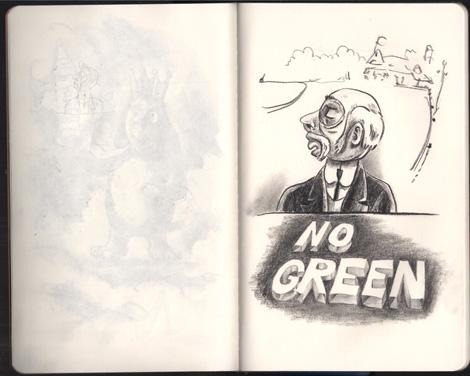 Art House Co-Op Sketchbook Project - Moleskine Sketchbook pages 10-11