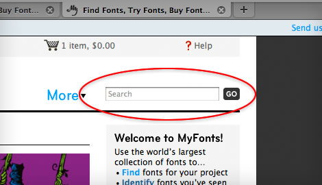 try fonts online step 2