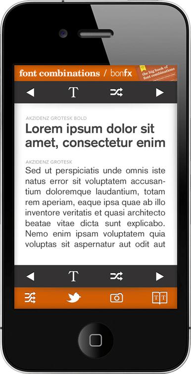 Font Combinations App