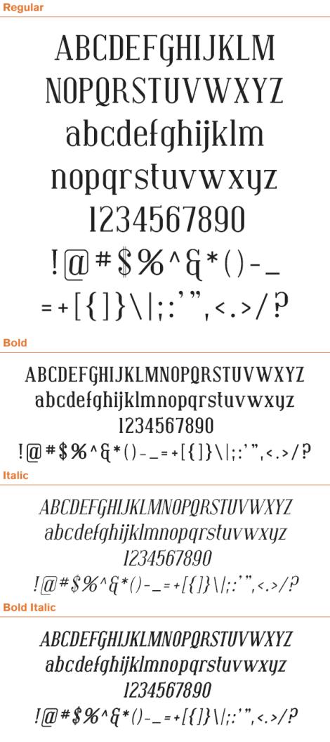 free-serif-fonts-convington