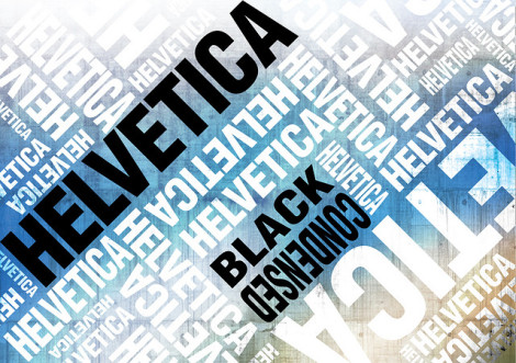 Helvetica poster Blue	 by ECKO Design Group