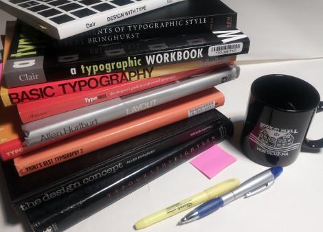 typo book pile