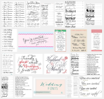 A book of free wedding font combinations?
