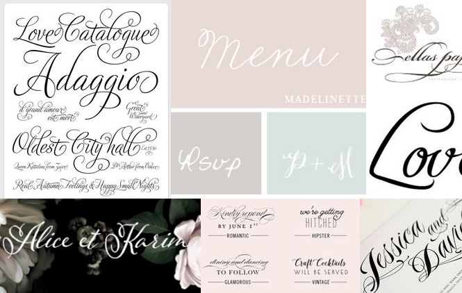 60 Popular Free Wedding Fonts | BonFX