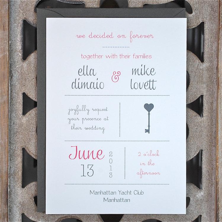 Popular 20 Contemporary Wedding Invitation Examples | BonFX PR76