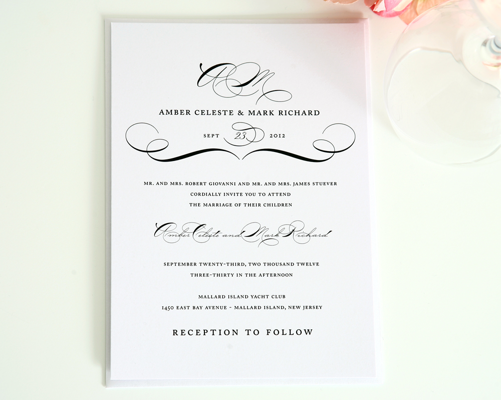 20 contemporary wedding invitation examples bonfx With samples of modern wedding invitations