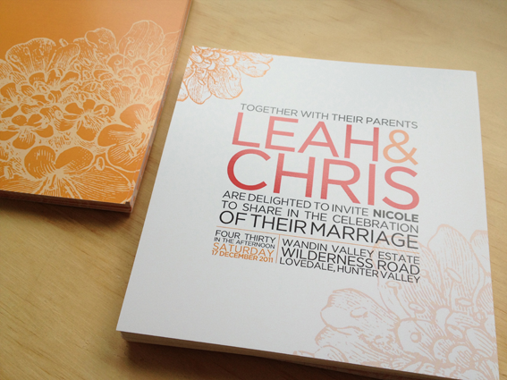 Contemporary Wedding Invitation Examples