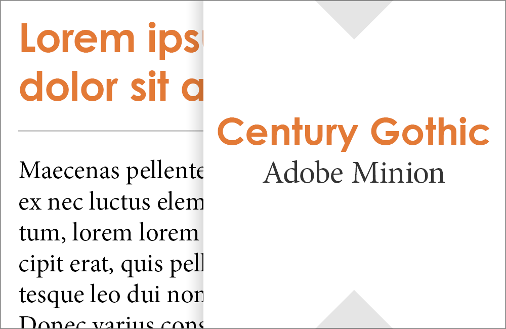 Century Gothic and Minion: Fonts that go with Century Gothic