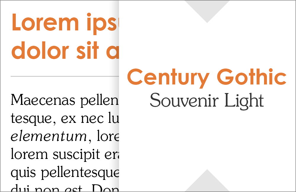 Century Gothic and Souvenir: Fonts that go with Century Gothic