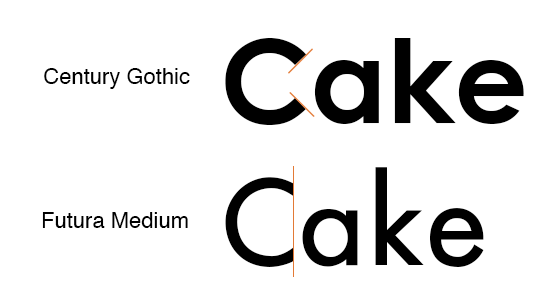 Century Gothic vs Futura: Fonts that go with Century Gothic