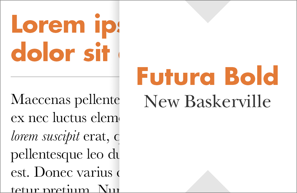 Futura and New Baskerville