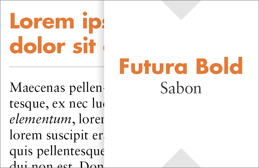 Futura and Sabon