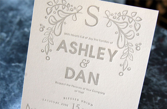 contemporary wedding invitation examples  bonfx, invitation samples